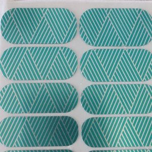 Jamberry Nail Wrap- Turquoise Silver Criss Cross